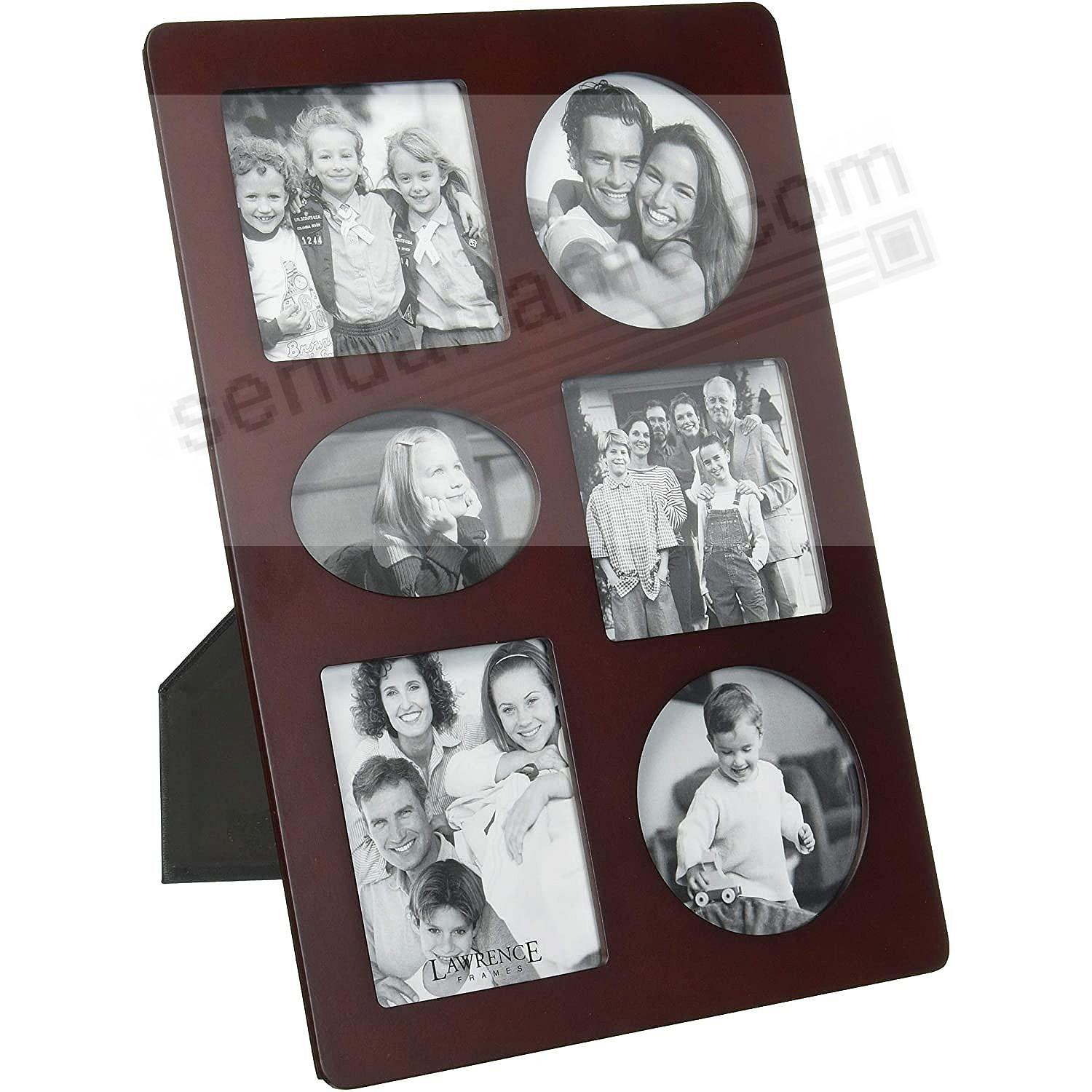 Picture frames photo albums personalized and engraved digital walnut 6opening collage by lawrence framesreg jeuxipadfo Choice Image