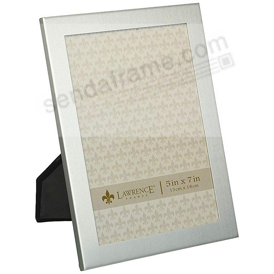 Brushed Satin silver-plated aluminum frame