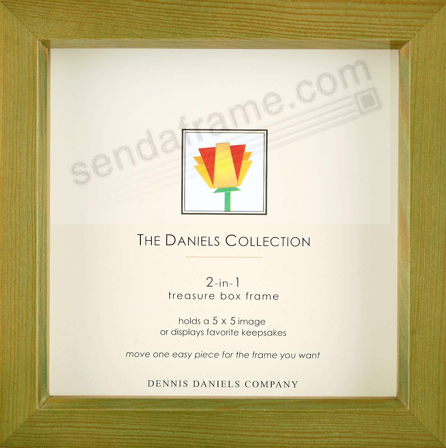 Olive-green 5x5 shadow box ½in deep for your print or collectibles by Dennis Daniels®
