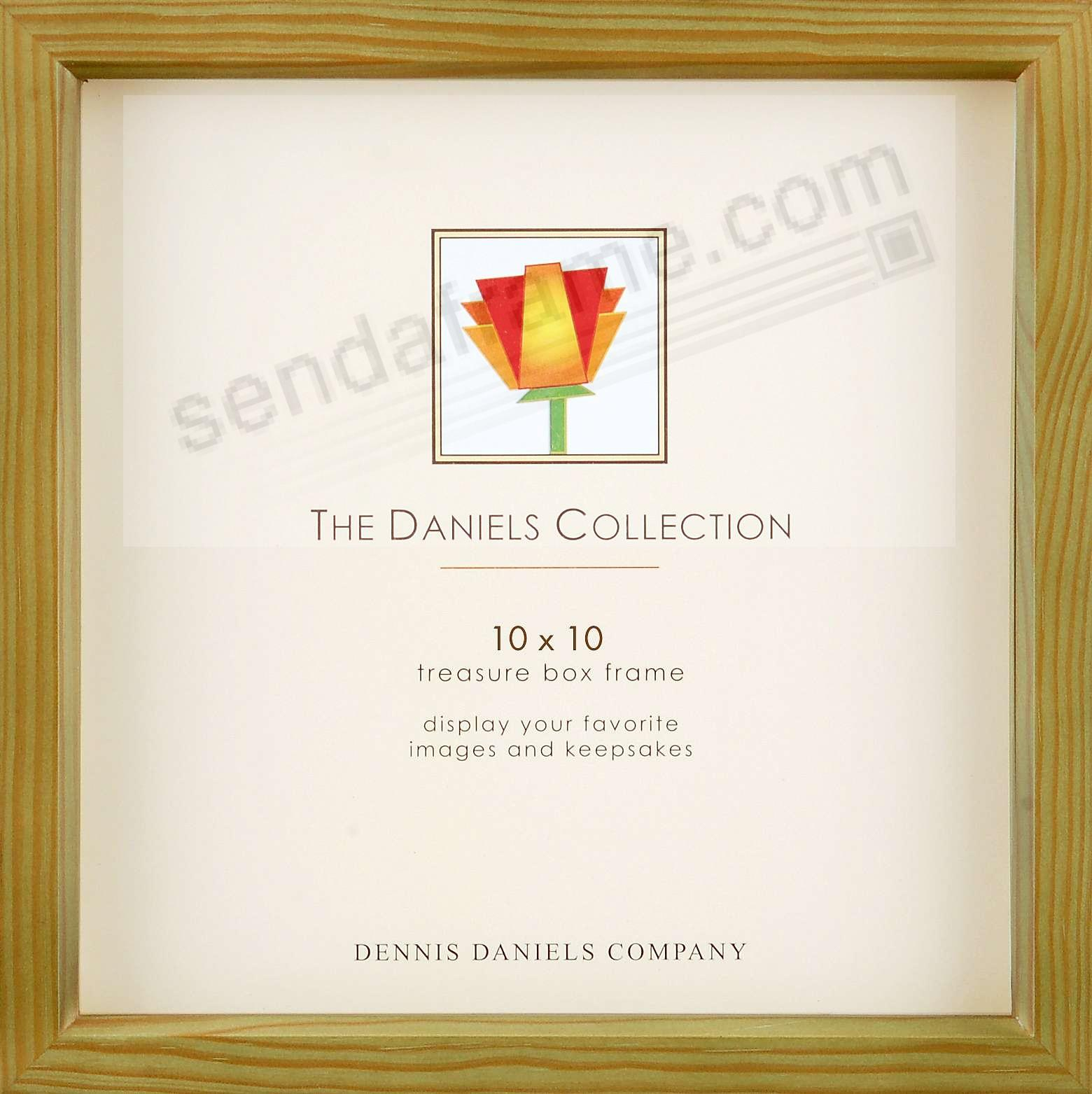 Olive-green 10x10 shadow box ½in deep for your print or collectibles by Dennis Daniels®