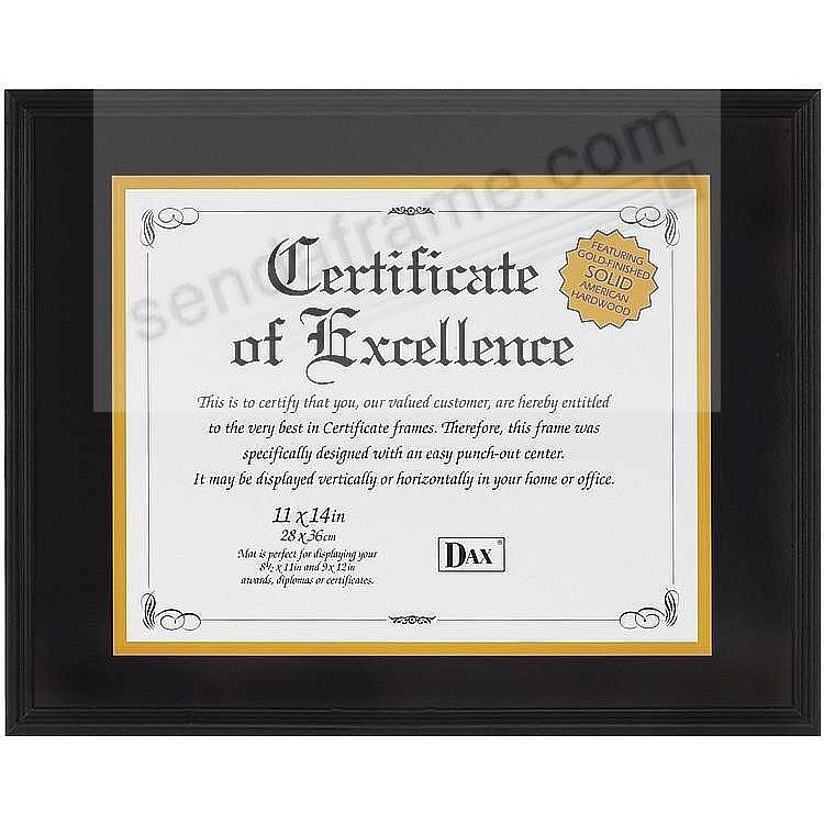 Black Document frame 14x11/11x8½ by DAX/Connoisseur®
