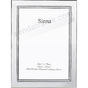 SQUARE CORNER/Bezel polished silverplate frame by Siena®