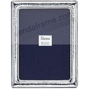 Our Siena® HAMMERED fine Sterling Silver polished frame