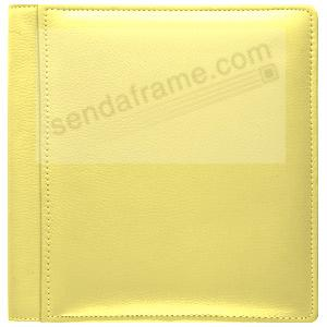 RODEO YELLOW #102 pebble grain leather 2-up album by Raika®
