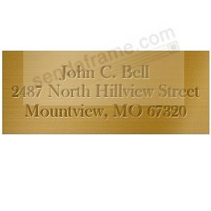 Wide engravable brass 4¾x1¾ title perma-stick plate