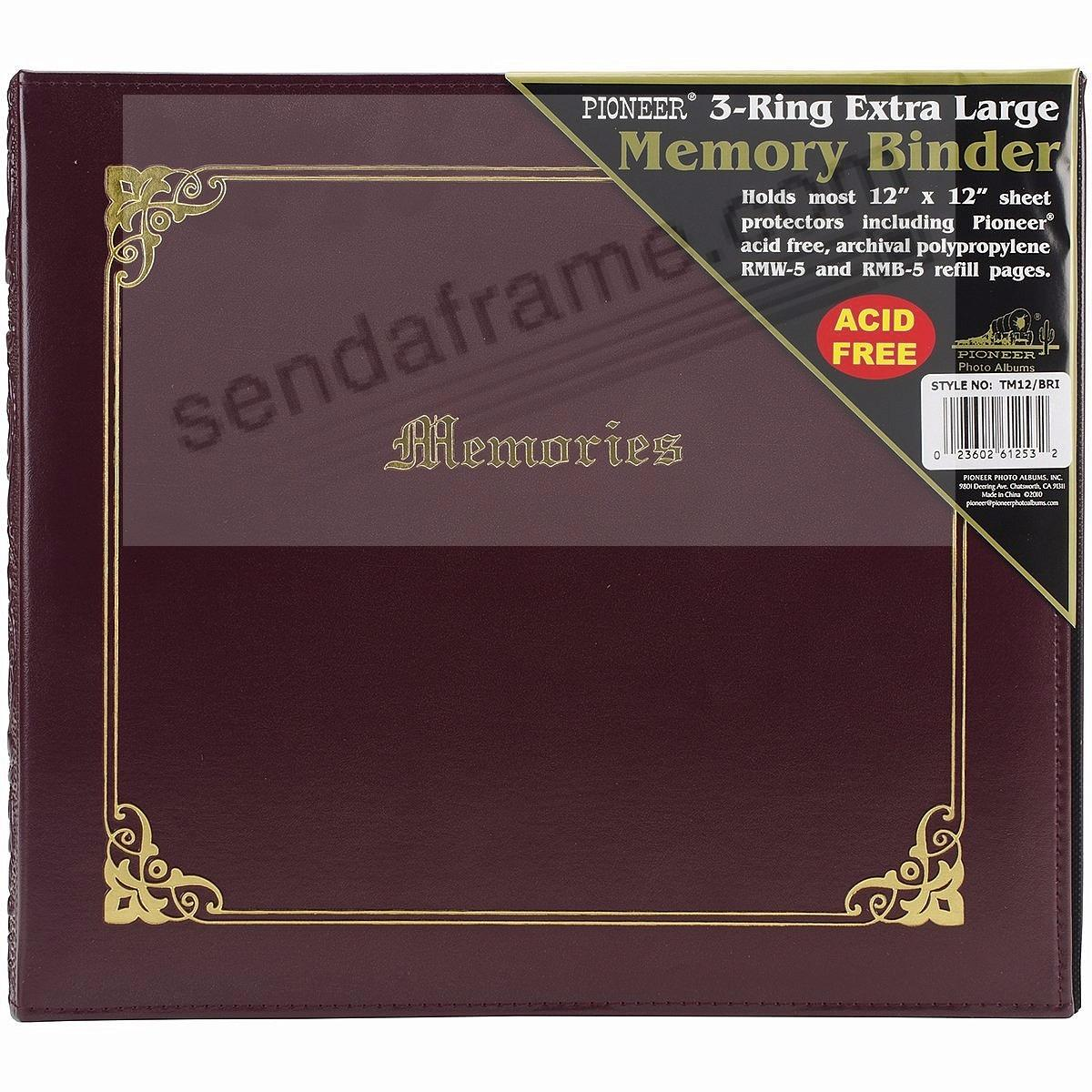 Burgundy wide-size 3-ring binder (unfilled) by Pioneer®