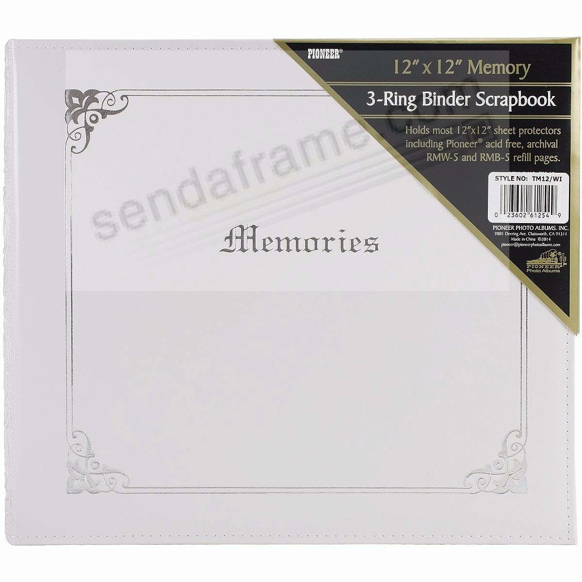 White MEMORIES wide-size 3-ring binder by Pioneer®
