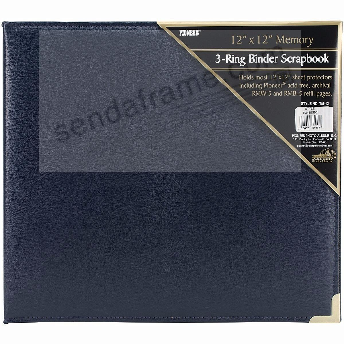 Navy-Blue wide-size 3-ring binder by Pioneer®