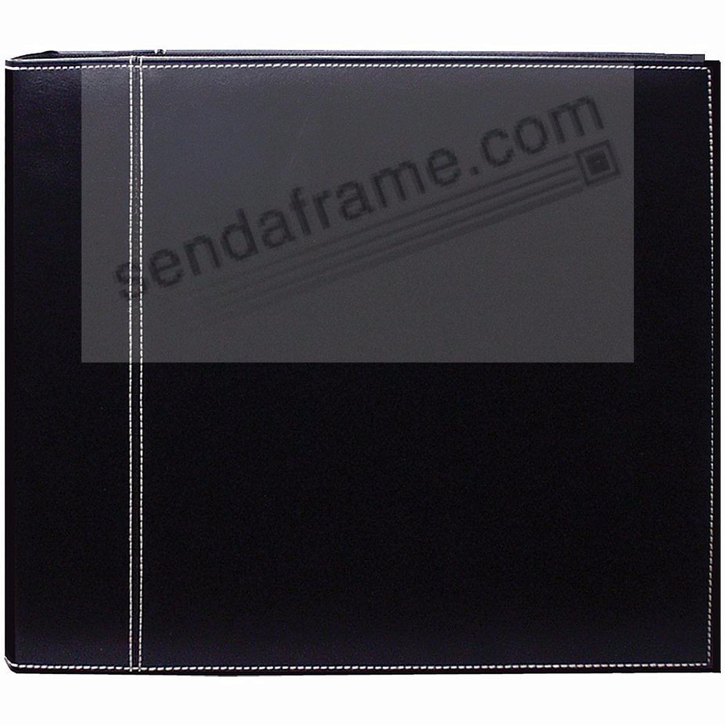 Black stitched wide-size 3-ring binder by Pioneer®
