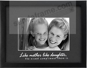 like mother like daughter picture frames photo albums personalized and engraved digital photo gifts sendaframe - Mother Daughter Picture Frame