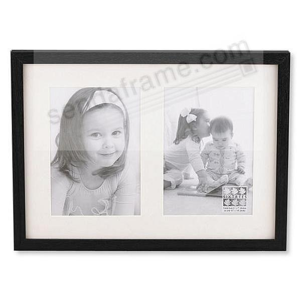 Black Logan Pre Mat Double 5x7 11x14 By Sixtrees Picture Frames