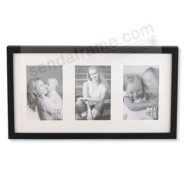 Black Logan Matted Triple Collage Frame By Sixtrees Picture