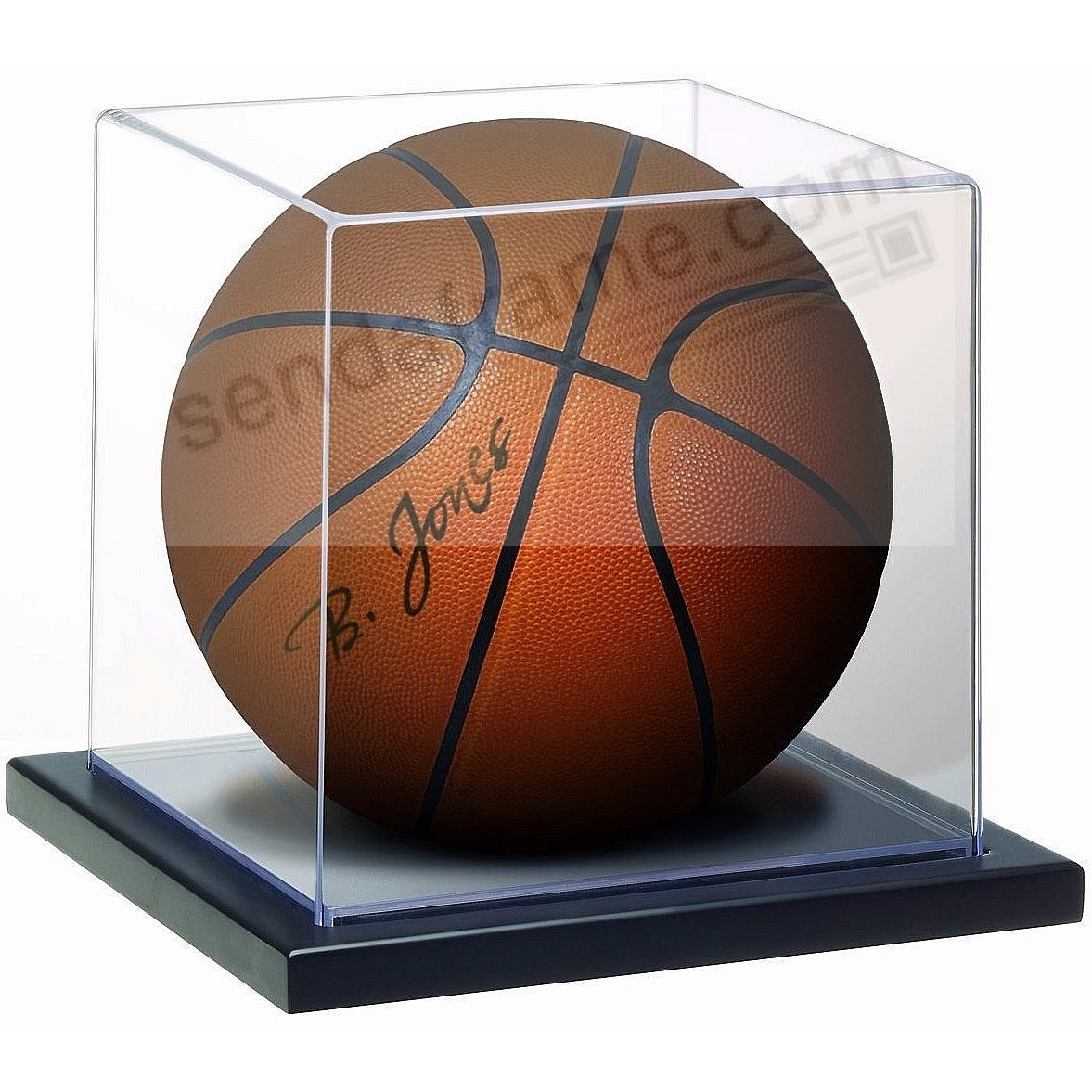 Clear Collector's Basketball/Soccer Full-size Ball Display Case Box by MCS®