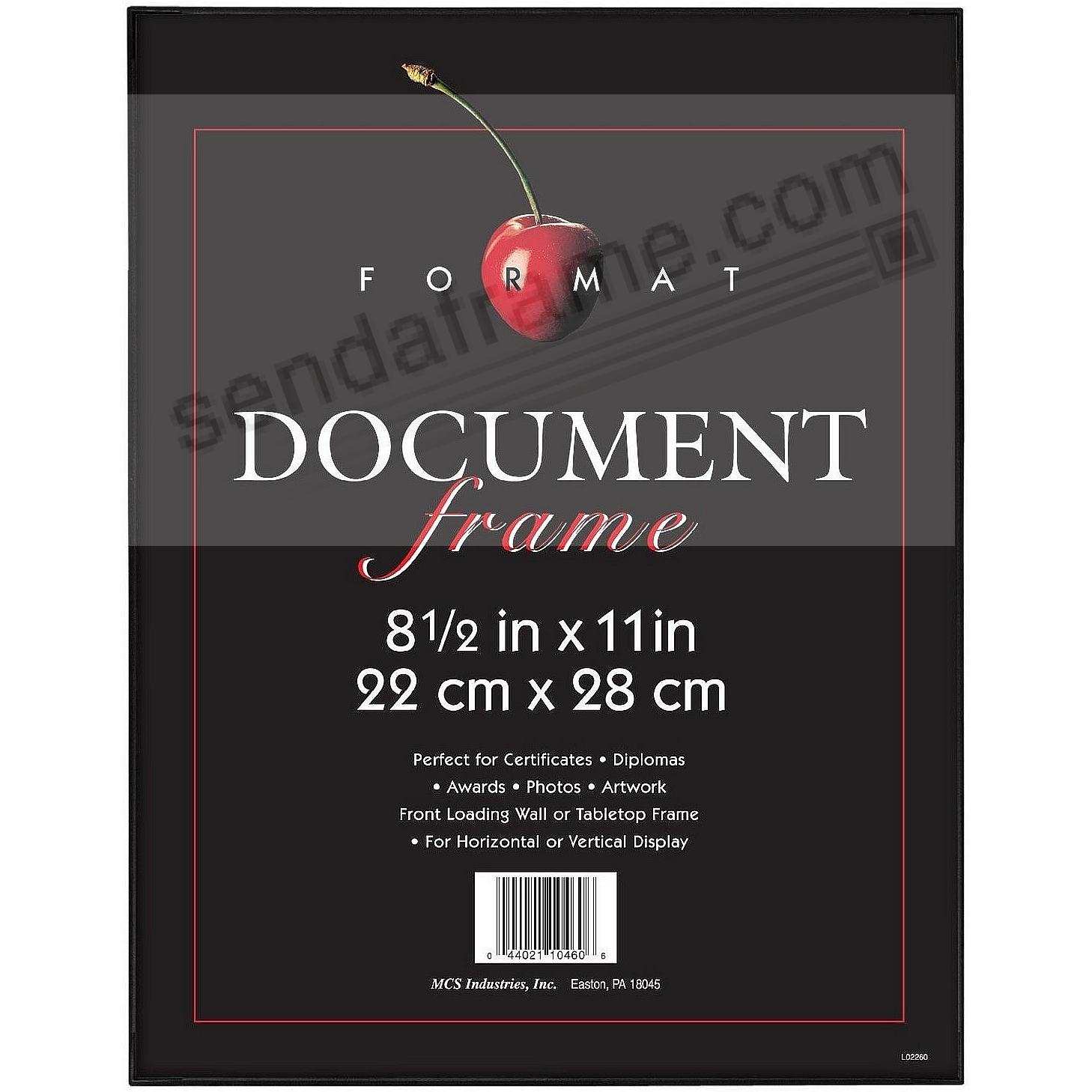 The ORIGINAL FORMAT FRONT-LOAD Black 8½x11 Frame