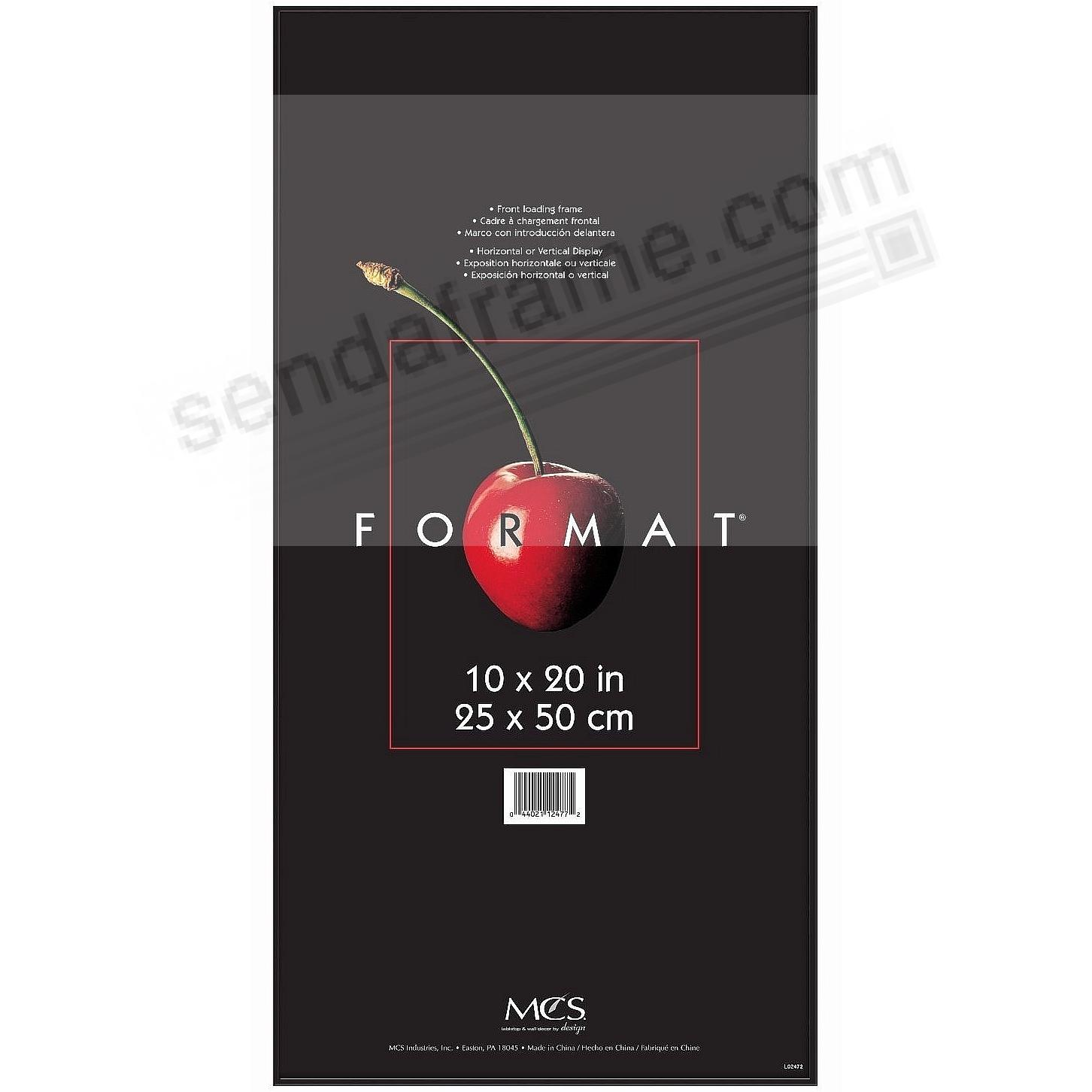 The ORIGINAL FORMAT FRONT-LOAD Black ABS document/print 10x20 Frame