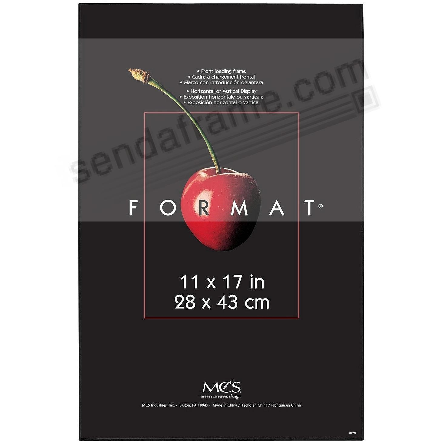 The ORIGINAL FORMAT FRONT-LOAD Black ABS document/print 11x17