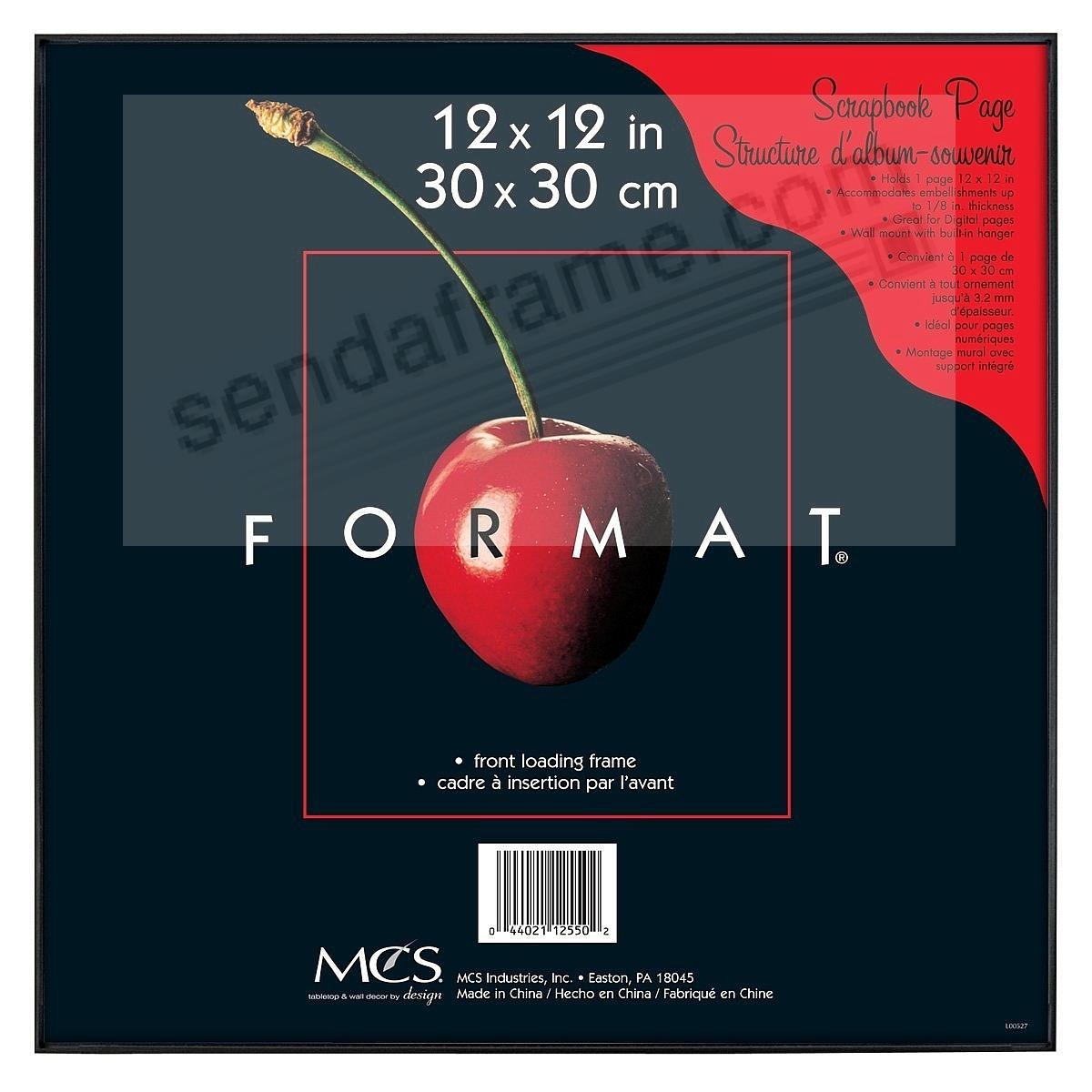 The ORIGINAL FORMAT FRONT-LOAD Black ABS document/print 12x12 Frame