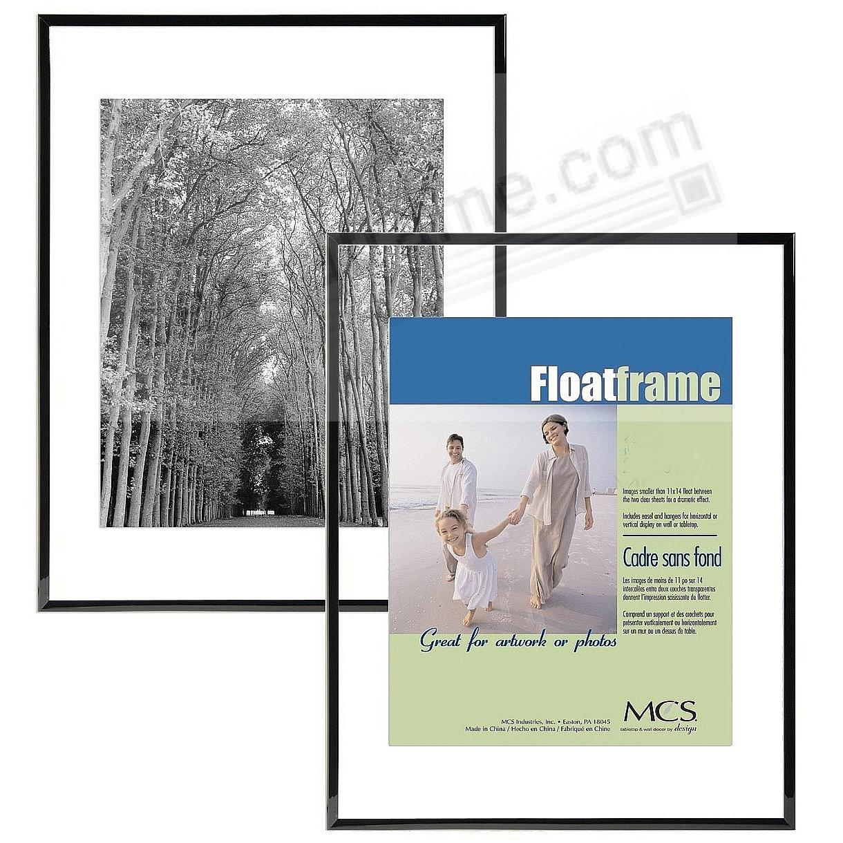 The original FLOAT <u>and</u> DOUBLE-SIDED black ABS wall frame ...