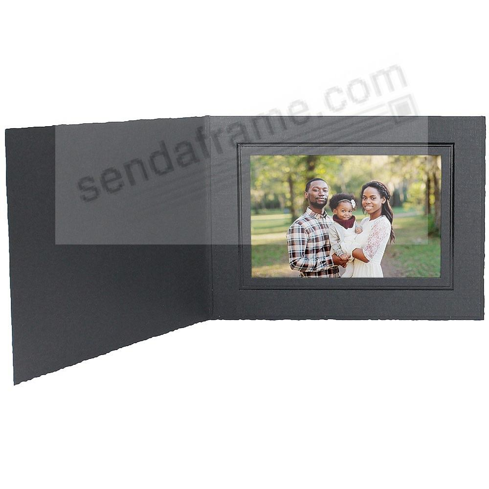 Black cardboard portrait folder frame w/black foil border (sold in 25s)
