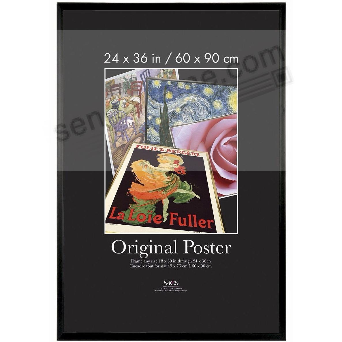 Black plastic POSTER size 24x36 frame with masonite backing