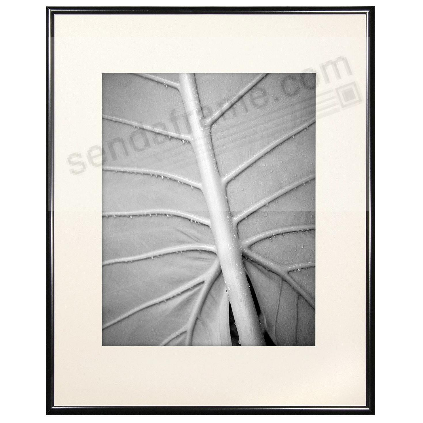 Classic Black Aluminum POSTER matted frame 12x16/8x12 by MCS ...