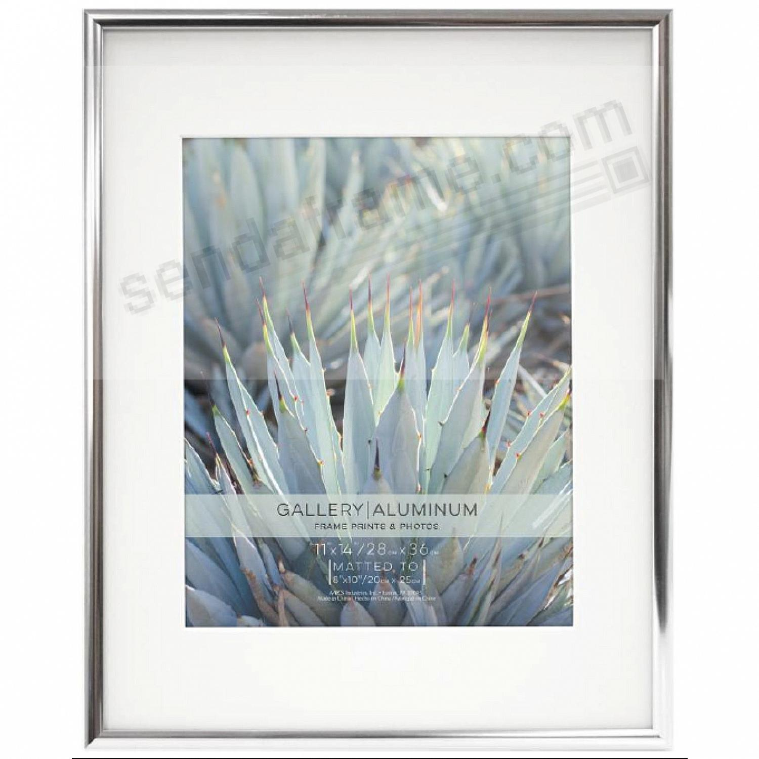 Classic Silver Aluminum POSTER matted 11x14/8x10 frame by MCS®