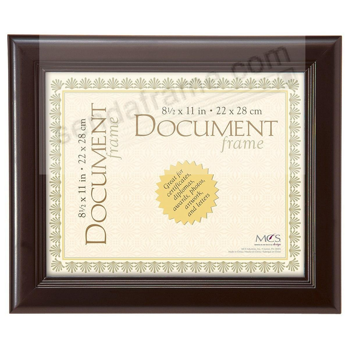 STEP Walnut-finish Pine Wood Certificate frame from MCS®