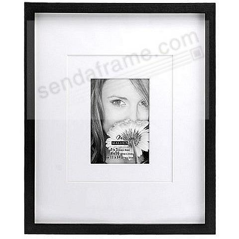 Ebony black frame with coordinated multi-layer mat 5x7 / 8x10 ...