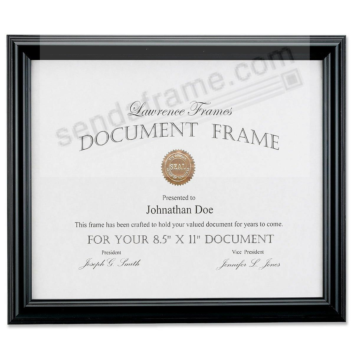 Black Document frame at a budget price by Lawrence Frames®