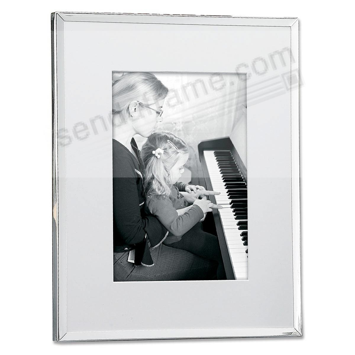 Polished Silverplate Matted 11x13/8x10 frame by Lawrence Frames®