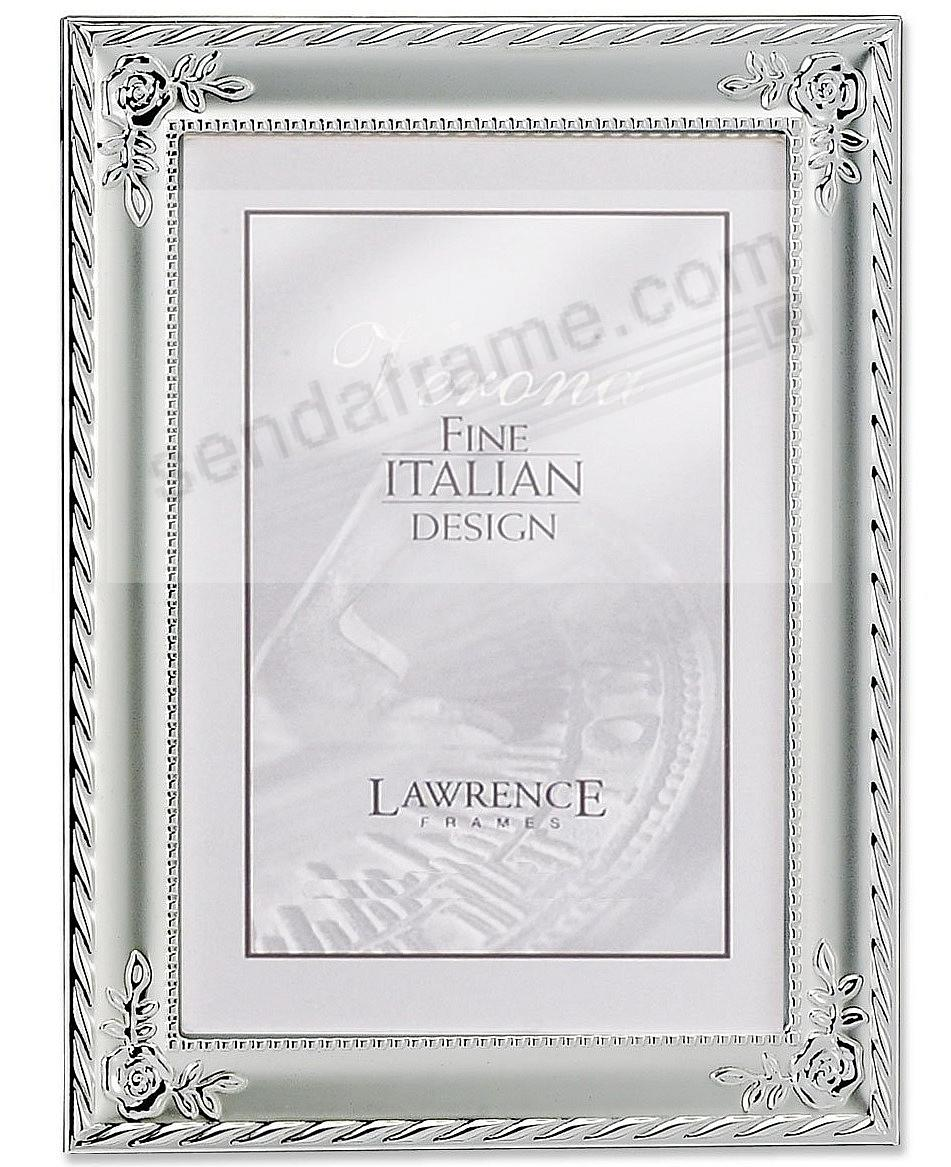 ROSE CORNERS braid silverplate frame