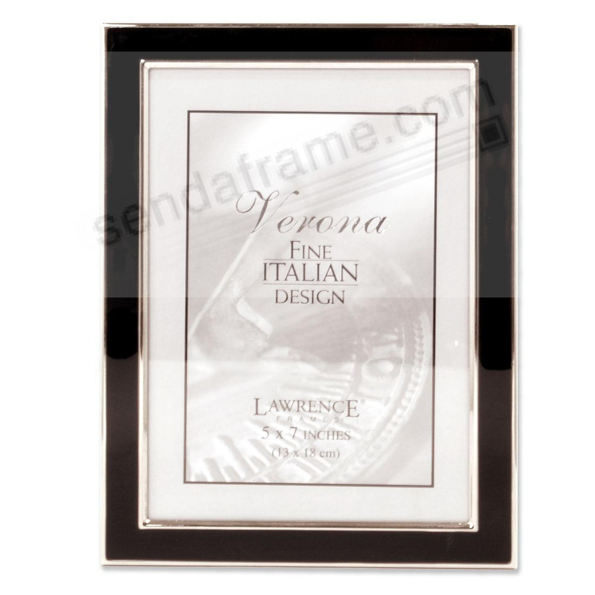 VERONA black enamel & silver accent by Lawrence® - Picture Frames ...