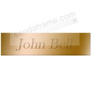 Engravable brass 3x¾ permanent stick name plate