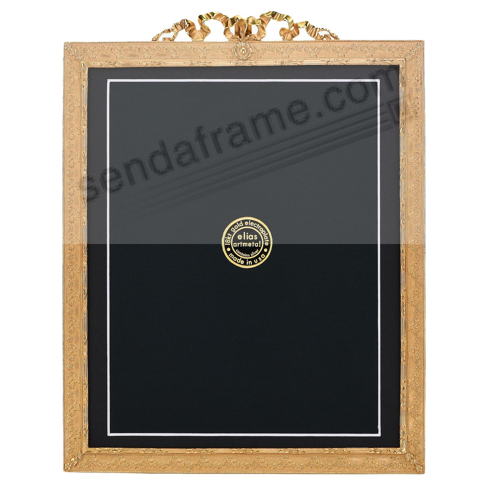 DELICATO 18kt Museum Gold Vermeil over Fine Pewter 8x10/7x9 frame by Elias Artmetal®