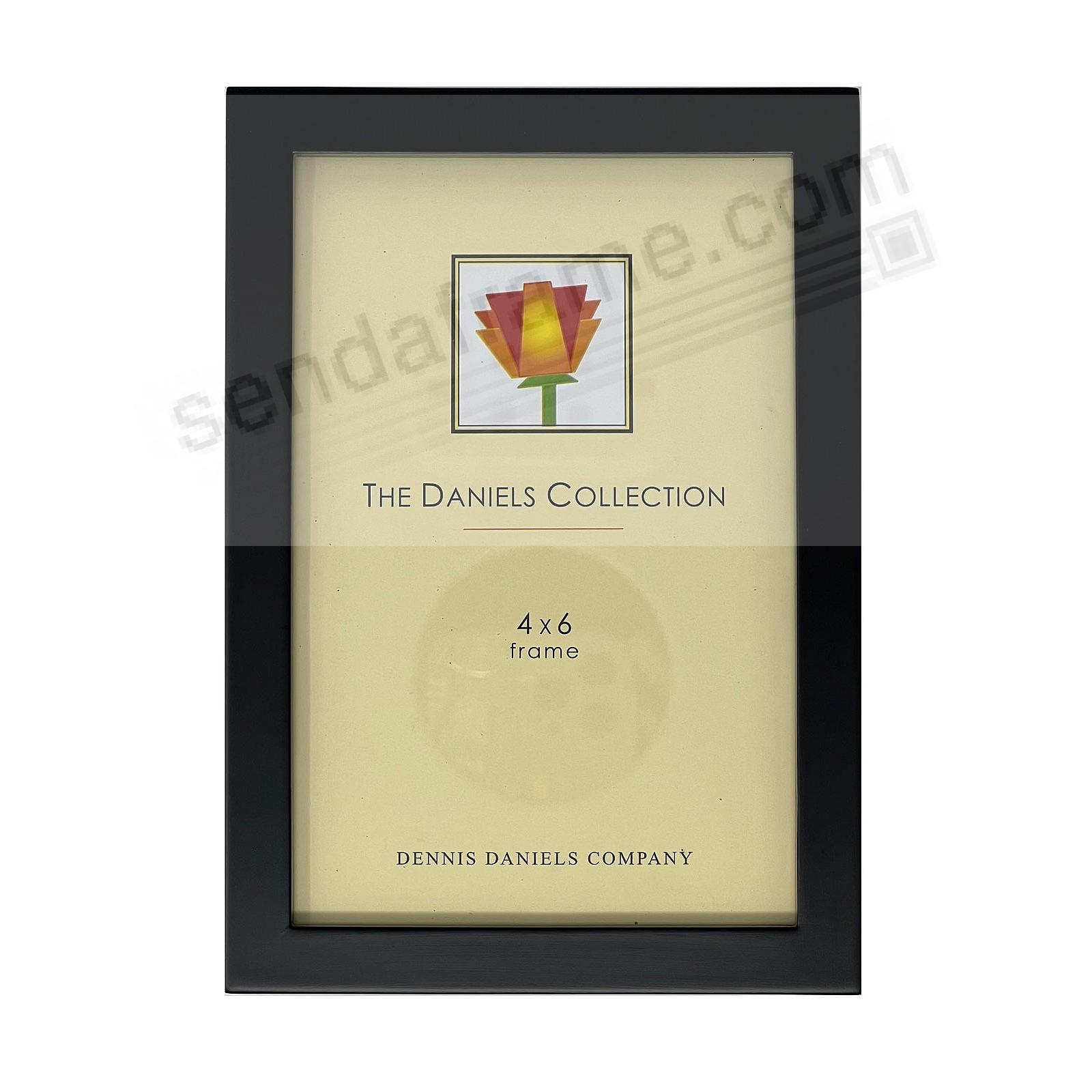 The Original DANIELS W41: Black GALLERY WOODS 4x6 frame by Dennis Daniels®