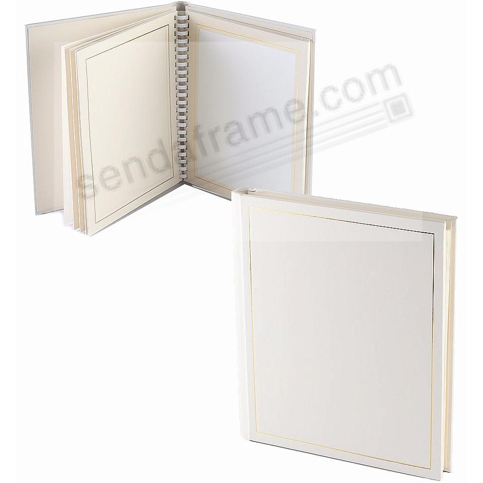 Professional PARADE white/gold slip-in mat photo album for 20 5x7 ...