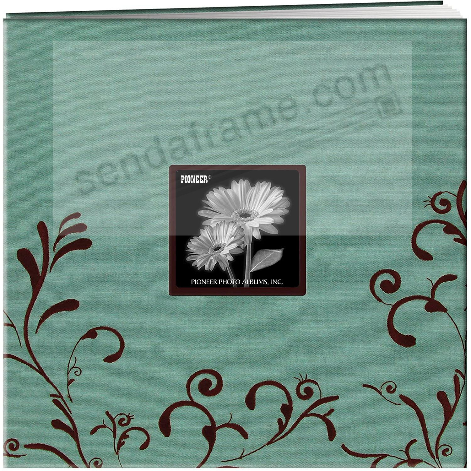 Aqua & Brown Embroidered 12x12 Scrapbook by Pioneer®