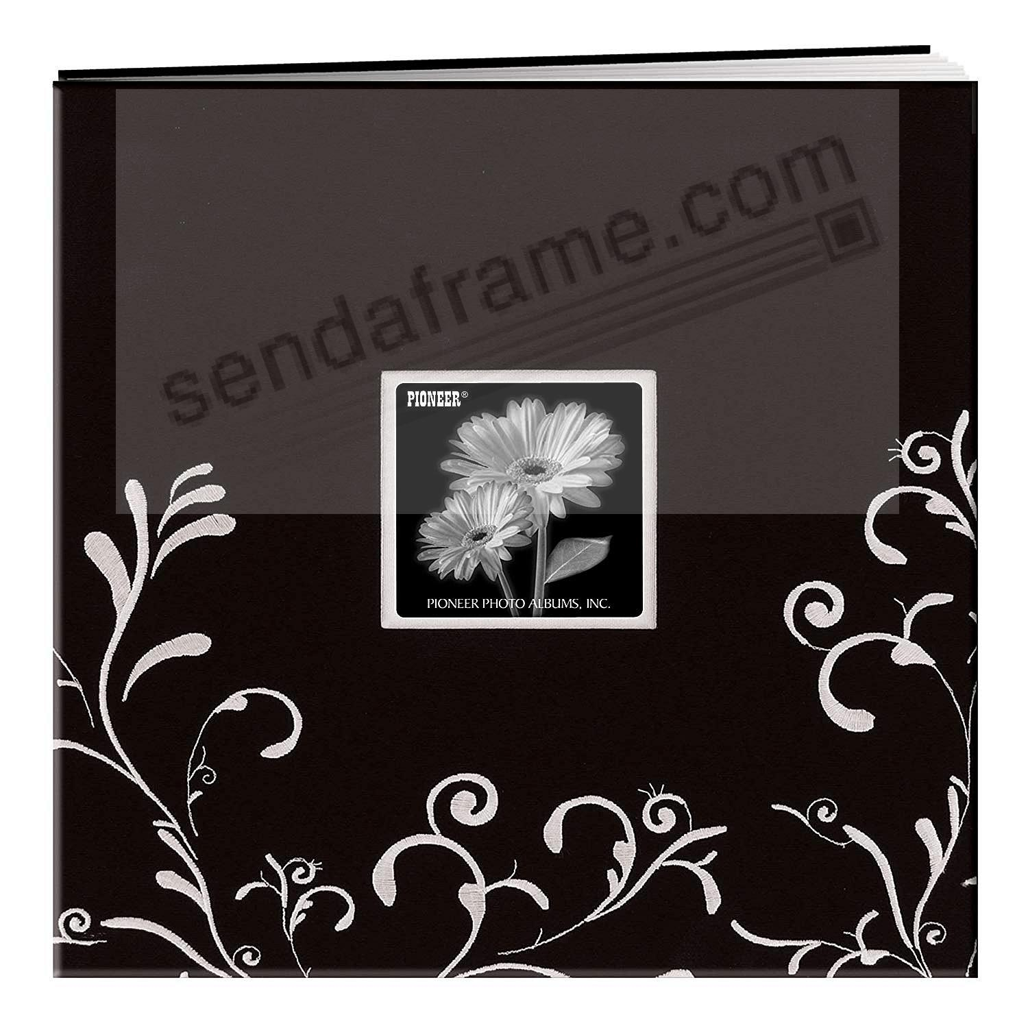 Black & White Embroidered 12x12 Scrapbook by Pioneer®
