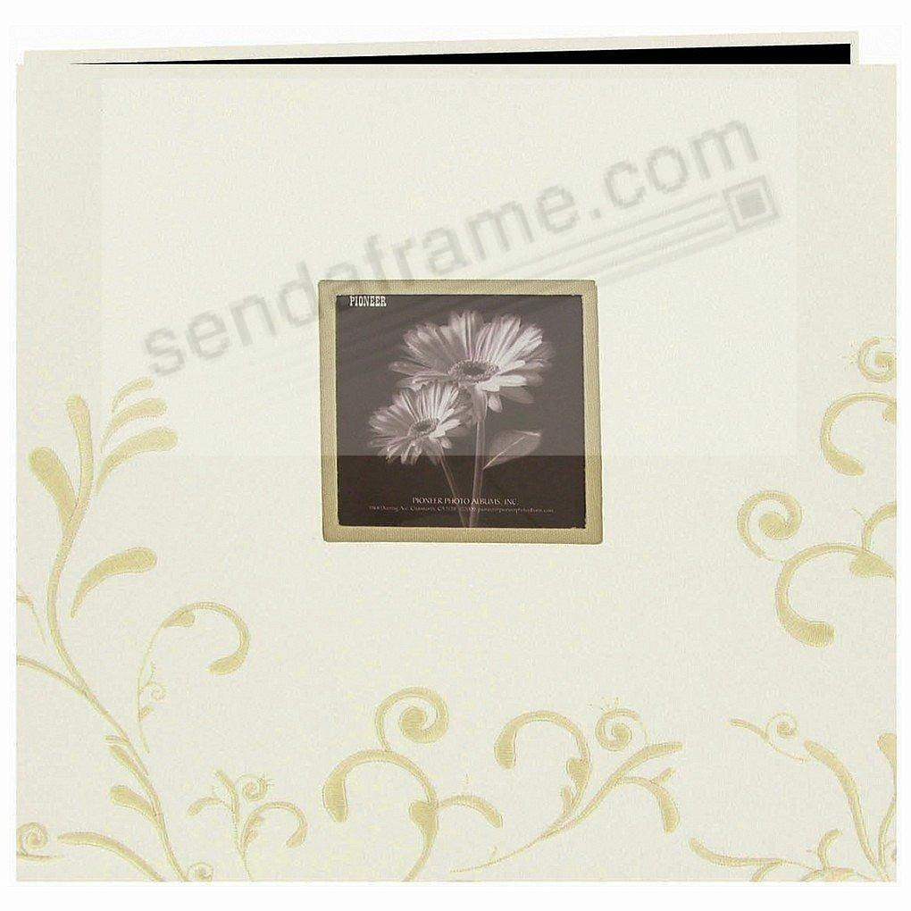 Ivory Embroidered 12x12 Scrapbook Album By Pioneer Picture Frames