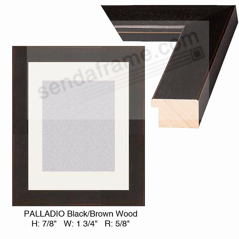 Custom-Cut™ PALLADIO Black/Brown Wood H:7/8 W:1-3/4 R:5/8