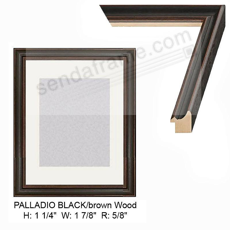 Custom-Cut™ PALLADIO Black w/Brown Accent H:1-1/4 W:1-3/8 R: 5/8