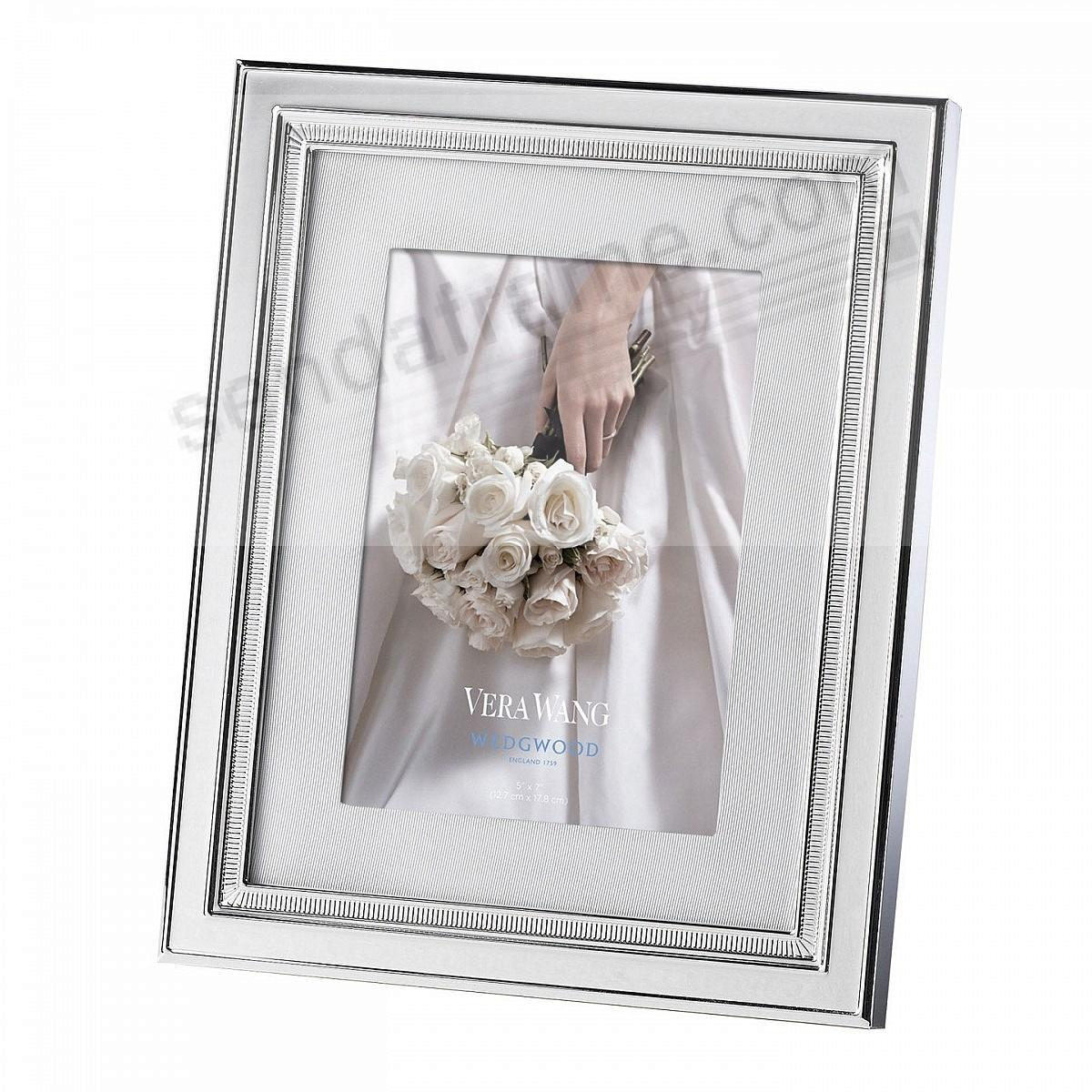 CHIME SILVER matted 5x7 frame by Vera Wang® - Picture Frames, Photo ...