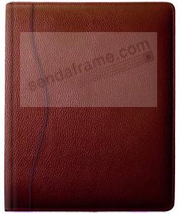 ROMA RED Grain leather 3-ring album by Raika®