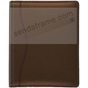 ROMA BROWN grain leather 3-ring album by Raika®