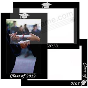 Celebrate your GRADUATION with our personally engraved frame in black aluminum