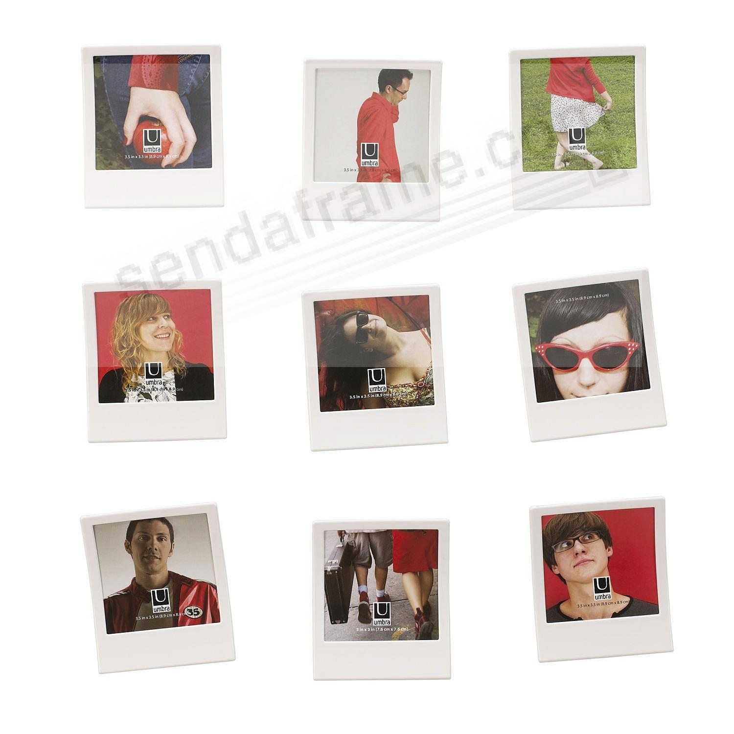 snap the polaroid inspired white frame set of 9 by umbra