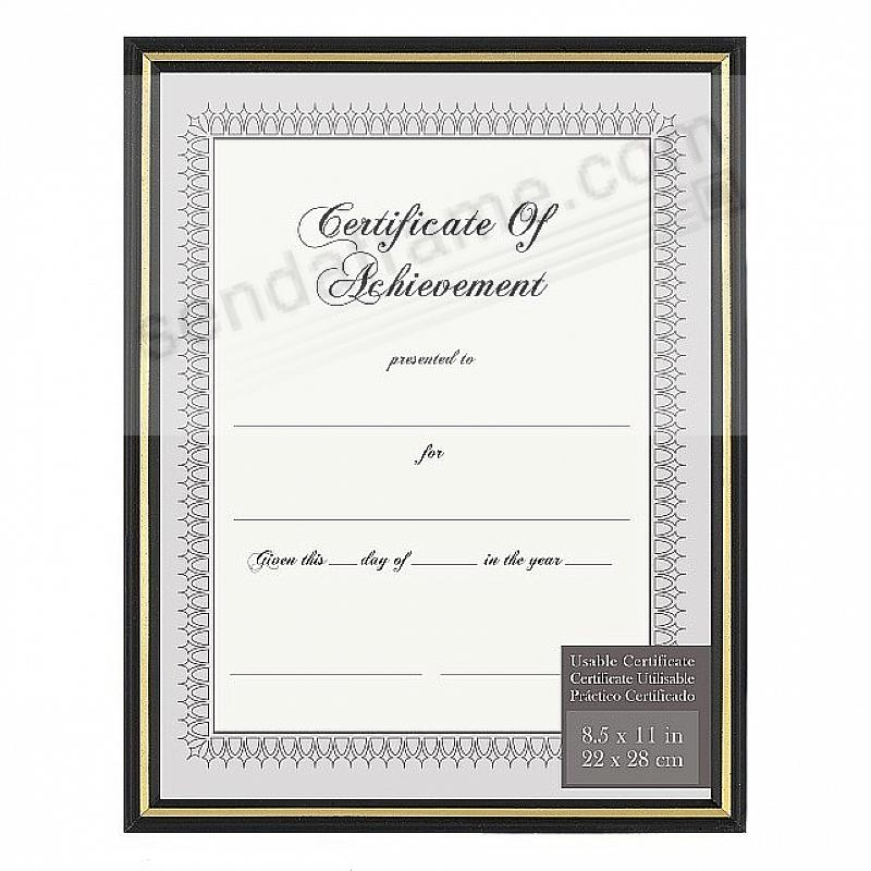 Black Metallic-look Document frame w/Gold accent by Intercraft ...
