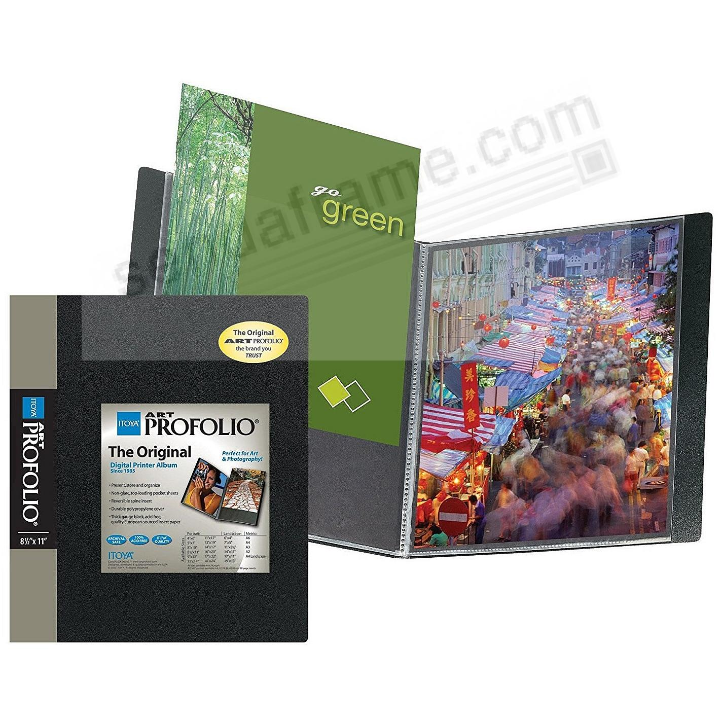 The ORIGINAL Series I PROFOLIO<br>90-Page 8½x11 art & photo album by Itoya®