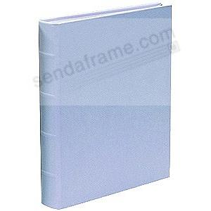 JUNIOR 8x9&frac12; Light-Blue Leather Bound Album<br>by Graphic Image&trade;