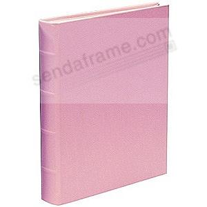 MEDIUM 9x12 Baby-Pink Fine Leather Bound Album<br>by Graphic Image&trade;